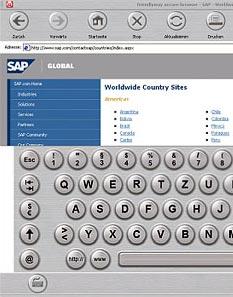 Secure browser presentation software